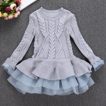 Girls Sweater Layered Dress 3Y-11Y