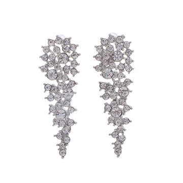 Full Rhinestone Geometric Earrings