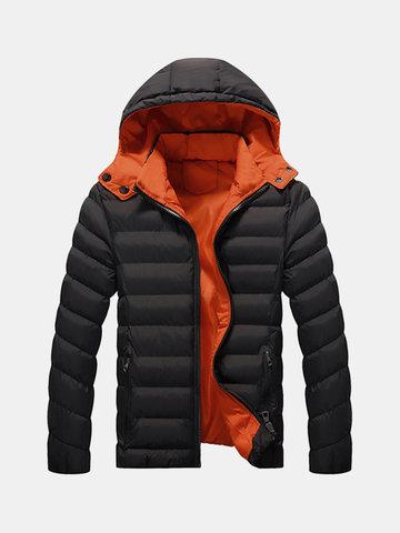Chaqueta guateada impermeable con capucha de invierno al aire libre para hombres