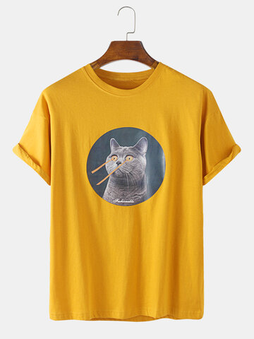 Russian Blue Cat Graphic T-Shirts