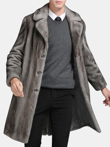 Mens Mink Faux Fur Coat