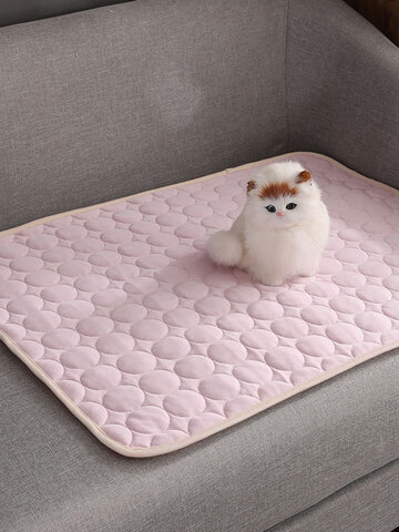 Dog Cooling Mat Pet Cat Chilly Summer Cool Bed Pad Cushion Indoor Seat Ice Silk Mat Pet Cooling Blanket