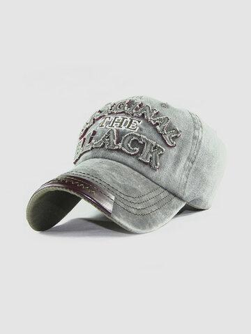 قبعة بيسبول رجالية من القطن المغسول قبعات قابلة للتعديل في الهواء الطلق