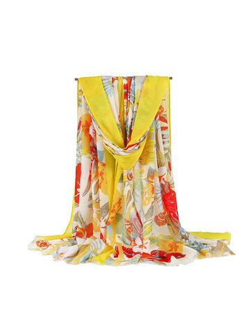 Vintage Vogue Cotton Soft Шаль с шелковым шарфом