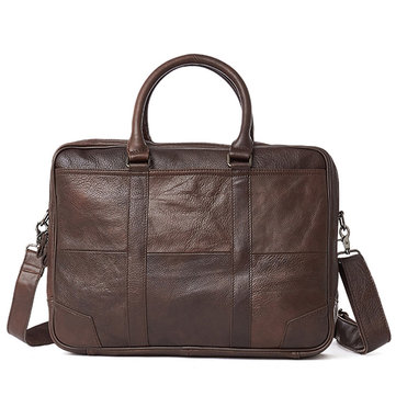 Piel Genuina Business Laptop Bolsa Maletín Crossbody Bolsa