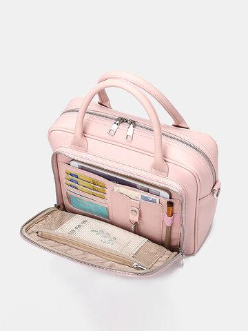 متعددة الوظائف متعددة الجيوب ضد للماء حقيبة الأعمال حقيبة يد
