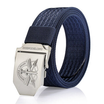 125CM Uomo Casual Nylon Canvas Cintura Traspirante Soft Smooth Buckle Denim Cintura