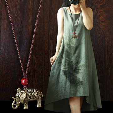 Alloy Elephant Pendant Necklace, As picture