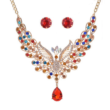 Luxus-Pfau-Schmuck-Set