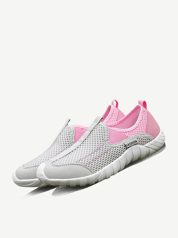 Spleißen Mesh Slip On Sneakers