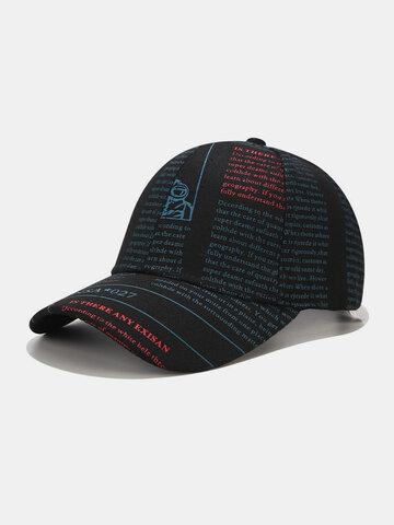 Unisex Letter Printing Baseball Hat