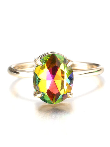Simple Crystal Ring