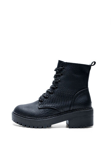 Pure Black Wearable Comfortable Short Boots