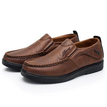 Homens Retro Color Soft Casual Couro Shoes