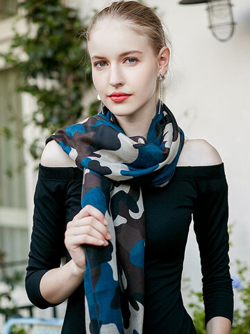 UACY Lightweight Camouflaged  Print Shawl Scarf For Spring