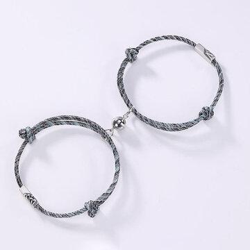 2Pcs Magnetic Couple Bracelets