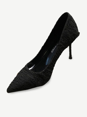 New Sexy Thin High Heel Women's Shoes Stiletto High-heeled Shallow Mouth Pointed Fashion Single Shoes Women