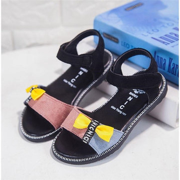 Girls Splicing Bowknot Lovely Sandals