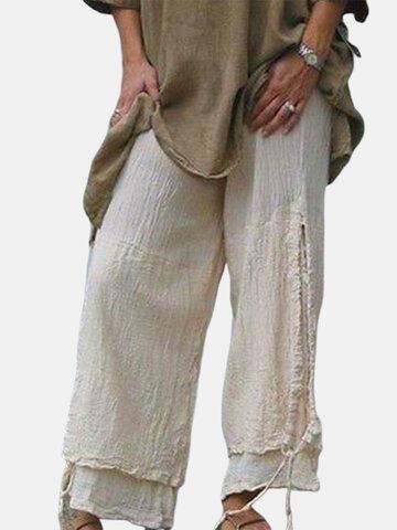 Casual Elastic Waist Pantaloni