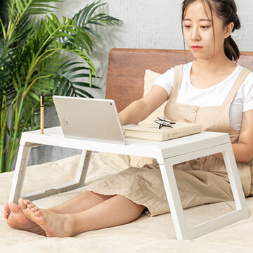 Bed Small Table Portable Folding Dormitory Desk Bed Lazy Dining Table Mobile Laptop Table