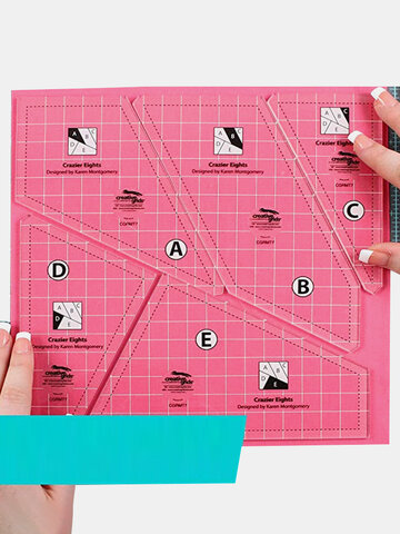 1 PC Acrylic Sewing Ruler Template Square 5 Piece Set Shaped Hollow Sewing Kit Patchwork Template DIY