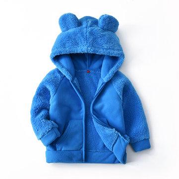 Fleece Hooded Warm Coats For 2Y-9Y