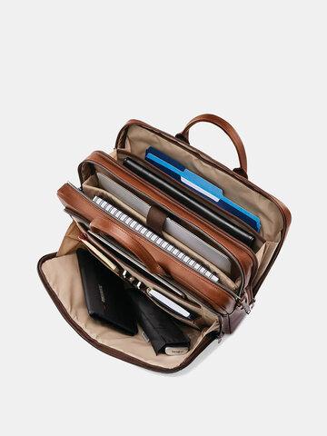 Men 15.6 Inch Laptop Multi-pocket Business Briefcase