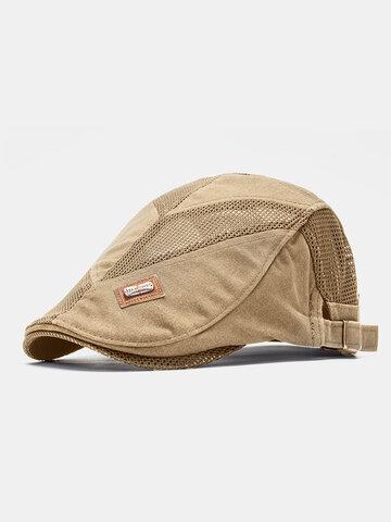 Chapeau plat en maille pour homme à col roulé