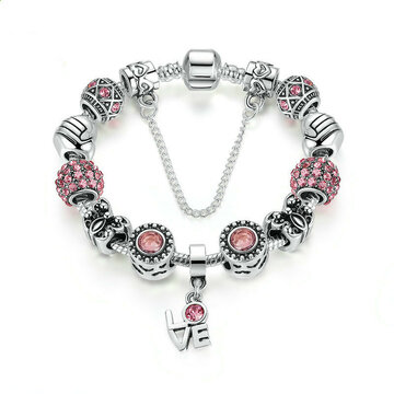 Charm Crystal Glass Beads Bracelet