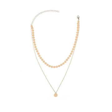 Fashion Multilayer Sequin Chain Necklace