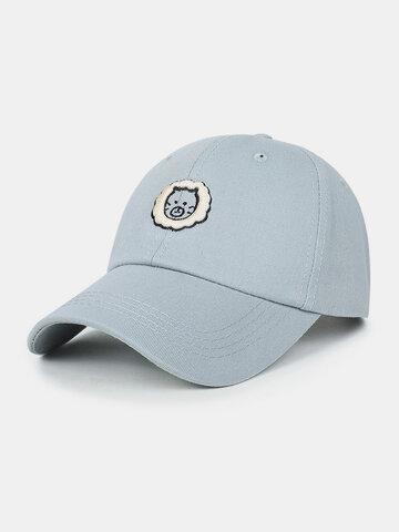 Unisex Cotton Embroidery Pattern Summer Baseball Hat