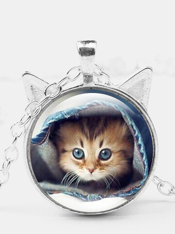 Cat Cover Quilt Necklace