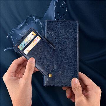Leather Wallet Phone Case Slim Flip Cover Kickstand