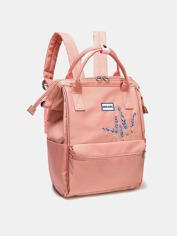 Women Anti theft Waterproof Embroidery Backpack