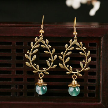Ethnic Wicker Branches Earrings Drop