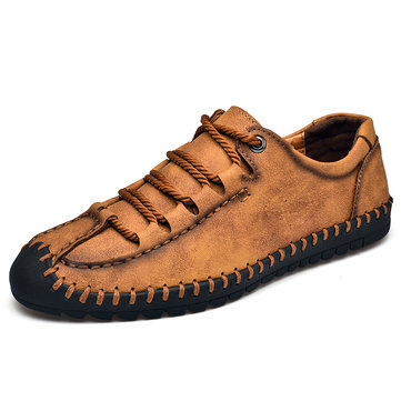 Menico Men Hand Stitching Leather Shoes