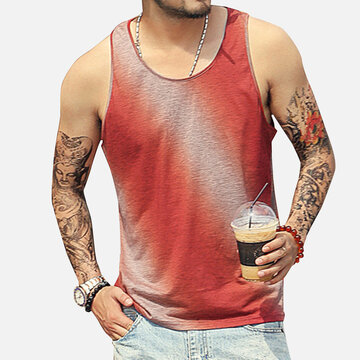 Mens Sports Gradient Tank Top