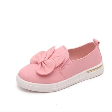 Girls Bowknot Slip On Comfy Flats