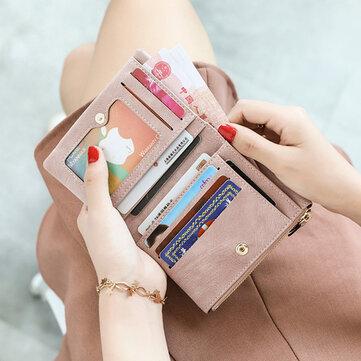 Damen Candy Color Kleine Kurze Geldbörse
