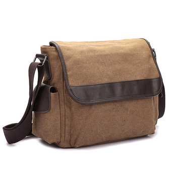 Canvas Message Borsa Solid Sling Borsa Crossbody Borsa For Men