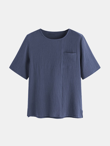 100% Cotton Cozy Casual T Shirts, Dark grey coffee navy