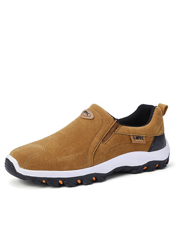 Men Suede Non Slip Casual Hiking Sneakers