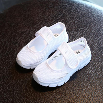 Girls Mesh Hook Loop Casual Shoes