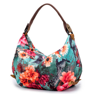 Brenice National Flower Shoulder Bags Light Printing Bags фото