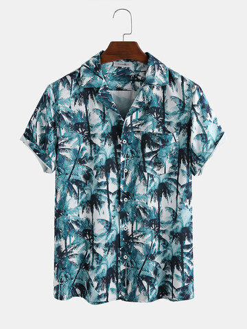 Holiday Coconut Tree Printed Shirt