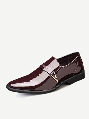 الرجال مشبك معدني أحذية اللباس الرسمي الأنيق