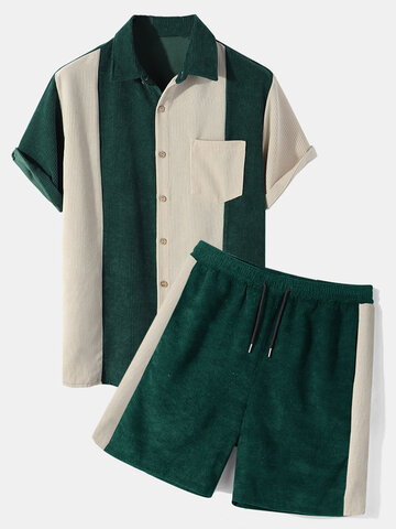 Corduroy Patchwork Casual Outfits