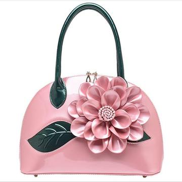 Women Fashion High Light Patent Leather Waterproof  Handbag