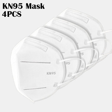 <US Instock> 4 Pieces / Pack 0f KN95 Masks Passed The GB-2626-KN95 Test PM2.5 Filter Respiratory Protective Mask