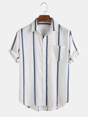 Plain Striped Print Shirts